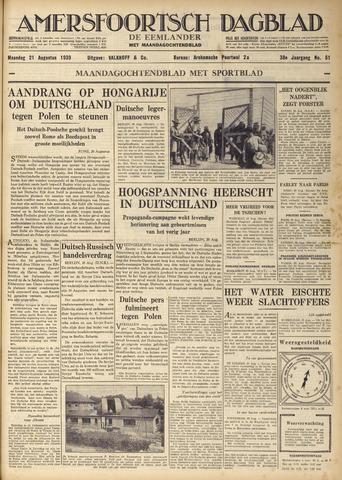 Amersfoortsch Dagblad / De Eemlander 1939-08-21