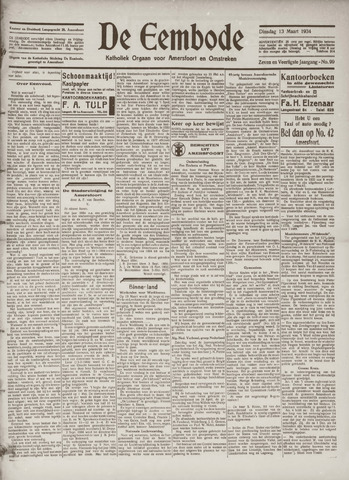 De Eembode 1934-03-13