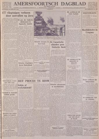 Amersfoortsch Dagblad / De Eemlander 1942-02-26