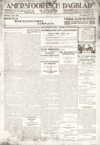 Amersfoortsch Dagblad / De Eemlander 1930-04-18