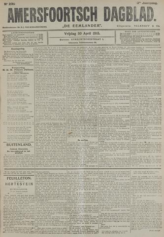 Amersfoortsch Dagblad / De Eemlander 1915-04-30