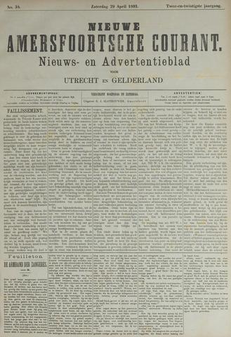 Nieuwe Amersfoortsche Courant 1893-04-29