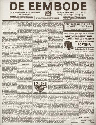 De Eembode 1926-02-19