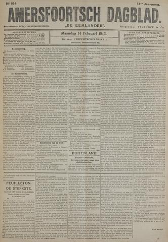 Amersfoortsch Dagblad / De Eemlander 1916-02-14