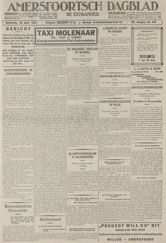 Amersfoortsch Dagblad / De Eemlander 1931-04-30