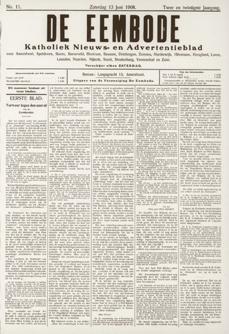 De Eembode 1908-06-13
