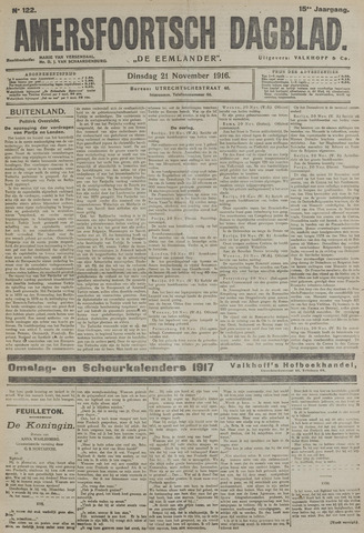 Amersfoortsch Dagblad / De Eemlander 1916-11-21