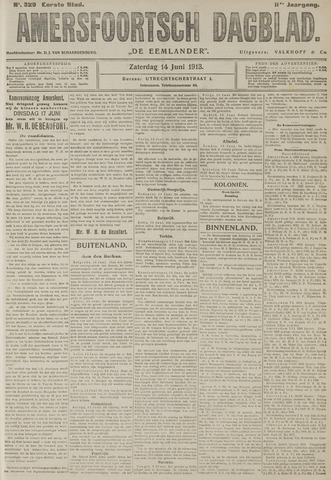 Amersfoortsch Dagblad / De Eemlander 1913-06-14