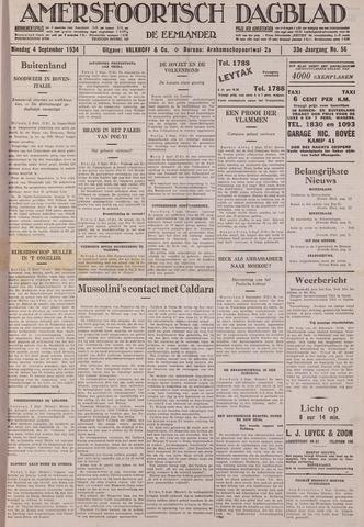 Amersfoortsch Dagblad / De Eemlander 1934-09-04