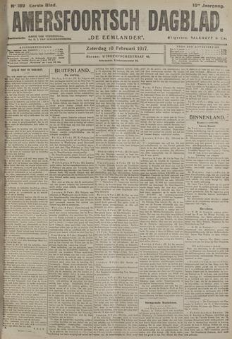 Amersfoortsch Dagblad / De Eemlander 1917-02-10