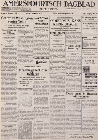 Amersfoortsch Dagblad / De Eemlander 1937-10-08