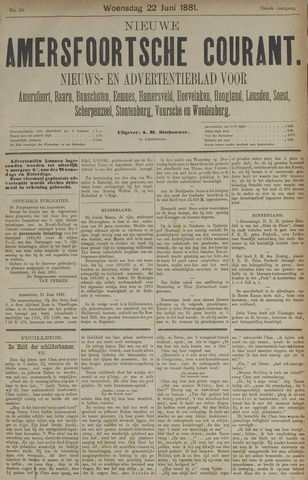 Nieuwe Amersfoortsche Courant 1881-06-22