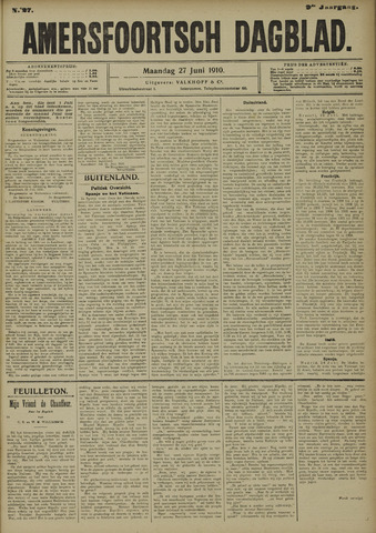 Amersfoortsch Dagblad 1910-06-27
