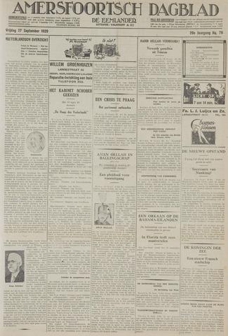 Amersfoortsch Dagblad / De Eemlander 1929-09-27