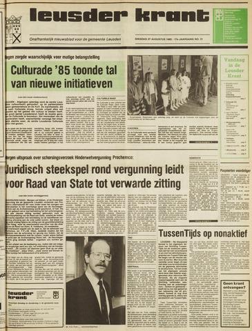 Leusder Krant 1985-08-27