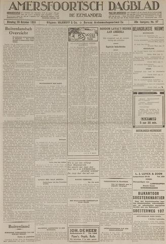 Amersfoortsch Dagblad / De Eemlander 1931-10-20