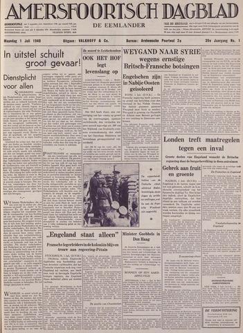 Amersfoortsch Dagblad / De Eemlander 1940-07-01