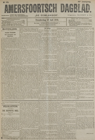 Amersfoortsch Dagblad / De Eemlander 1916-07-27