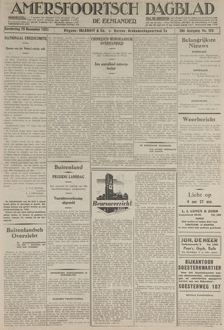 Amersfoortsch Dagblad / De Eemlander 1931-11-26
