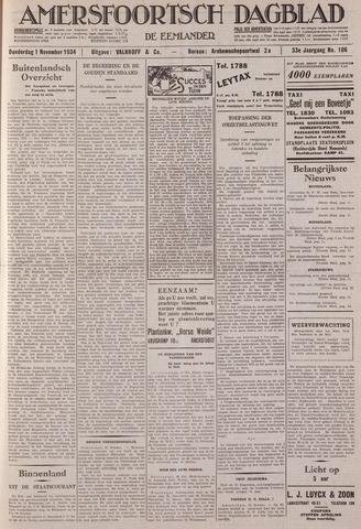Amersfoortsch Dagblad / De Eemlander 1934-11-01