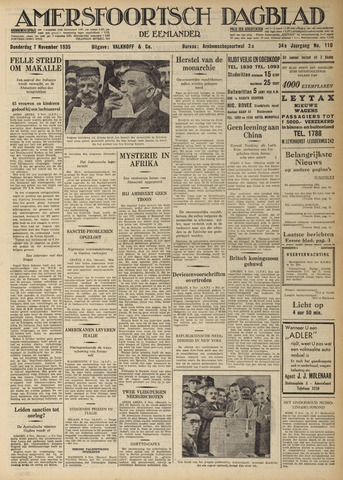 Amersfoortsch Dagblad / De Eemlander 1935-11-07