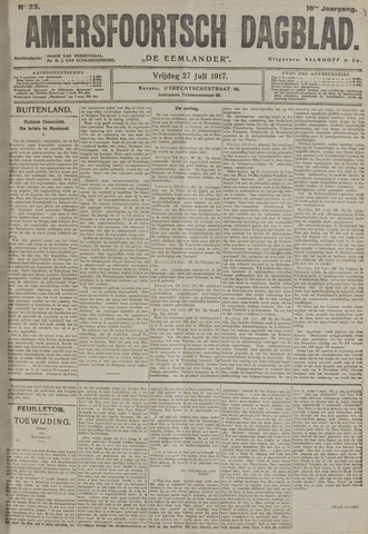 Amersfoortsch Dagblad / De Eemlander 1917-07-27