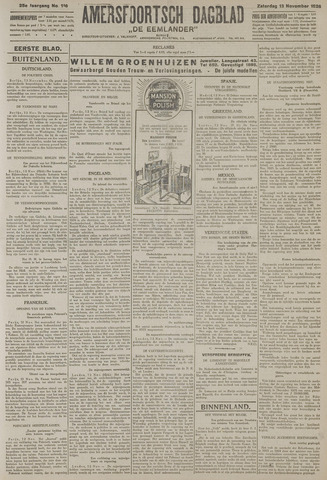 Amersfoortsch Dagblad / De Eemlander 1926-11-13