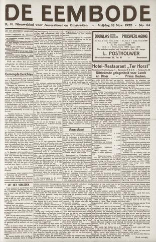 De Eembode 1922-11-10