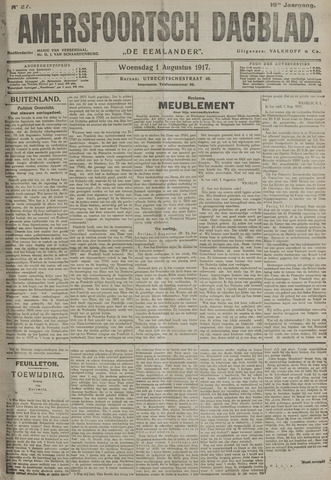 Amersfoortsch Dagblad / De Eemlander 1917-08-01