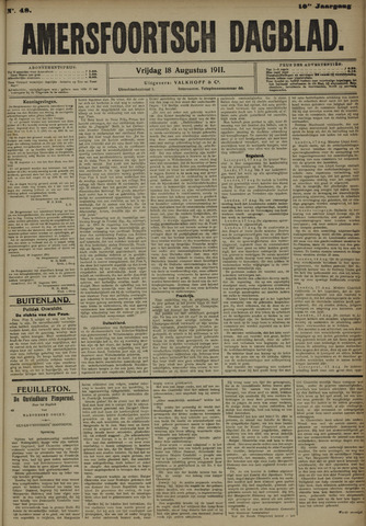 Amersfoortsch Dagblad 1911-08-18