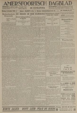 Amersfoortsch Dagblad / De Eemlander 1933-10-10