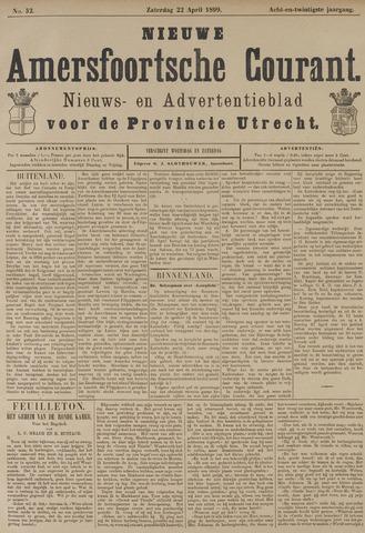 Nieuwe Amersfoortsche Courant 1899-04-22