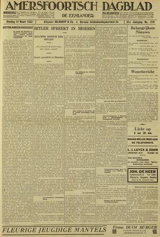 Amersfoortsch Dagblad / De Eemlander 1933-03-14