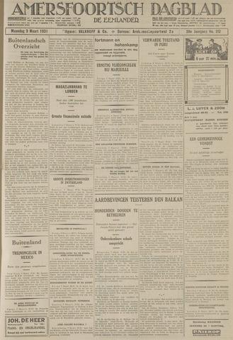 Amersfoortsch Dagblad / De Eemlander 1931-03-09