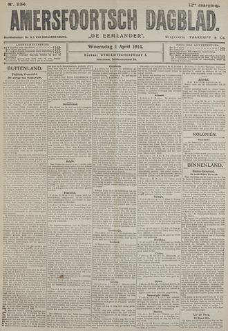 Amersfoortsch Dagblad / De Eemlander 1914-04-01