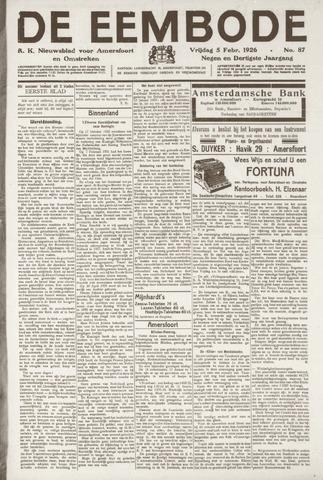 De Eembode 1926-02-05