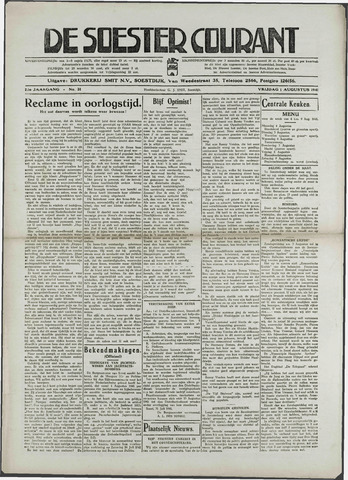 Soester Courant 1941-08-01