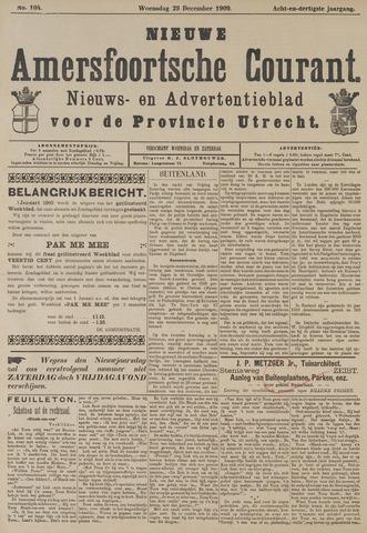 Nieuwe Amersfoortsche Courant 1909-12-29