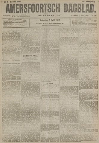 Amersfoortsch Dagblad / De Eemlander 1917-07-07