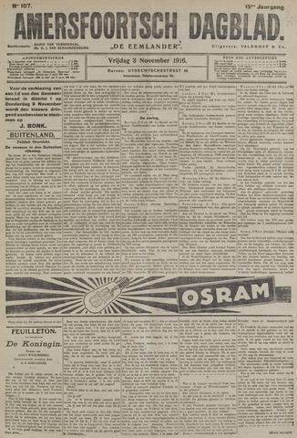 Amersfoortsch Dagblad / De Eemlander 1916-11-03