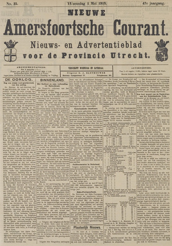 Nieuwe Amersfoortsche Courant 1918-05-01