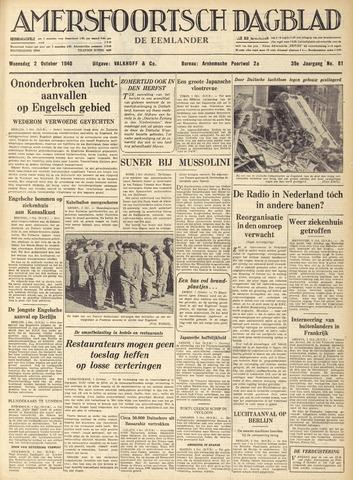 Amersfoortsch Dagblad / De Eemlander 1940-10-02