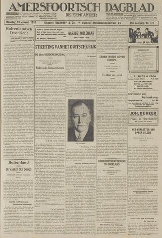 Amersfoortsch Dagblad / De Eemlander 1931-01-19