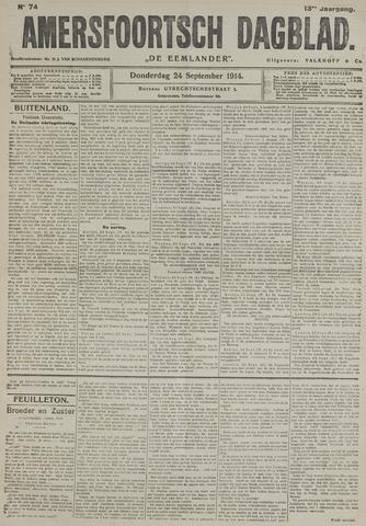 Amersfoortsch Dagblad / De Eemlander 1914-09-24