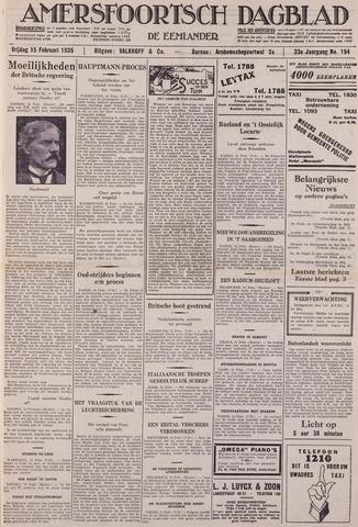 Amersfoortsch Dagblad / De Eemlander 1935-02-15