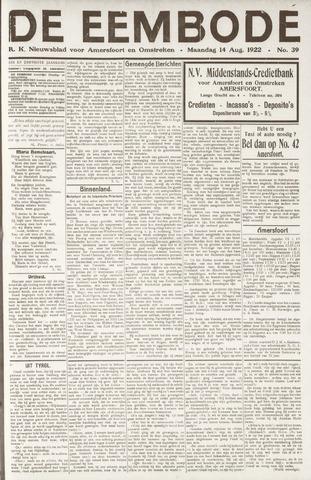De Eembode 1922-08-14