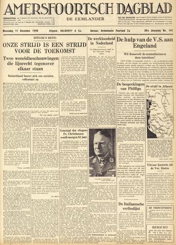 Amersfoortsch Dagblad / De Eemlander 1940-12-11