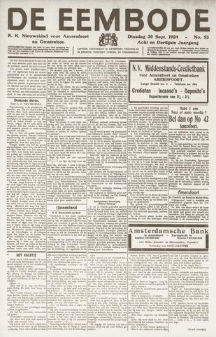 De Eembode 1924-09-30