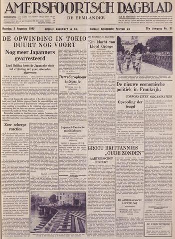 Amersfoortsch Dagblad / De Eemlander 1940-08-05