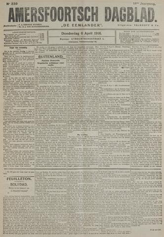 Amersfoortsch Dagblad / De Eemlander 1916-04-06